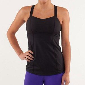 LULULEMON | Run: Catch Me Tank Top Black | Sz. 2
